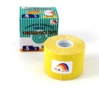 TEMTEX kinesiology tape Tourmaline, žltá 5 cm x 5 m